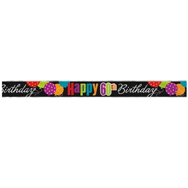 Classic 60th Birthday Foil Banner 12ft