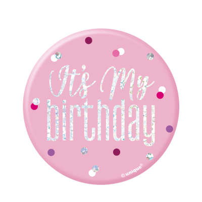 Sweet Pink Birthday Badge