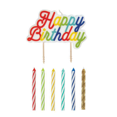 Rainbow Birthday Party Candle Set