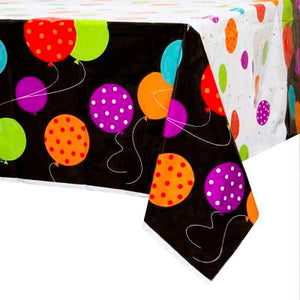 "Classic Birthday Party Rectangular Plastic Table Cover 54""x84"""