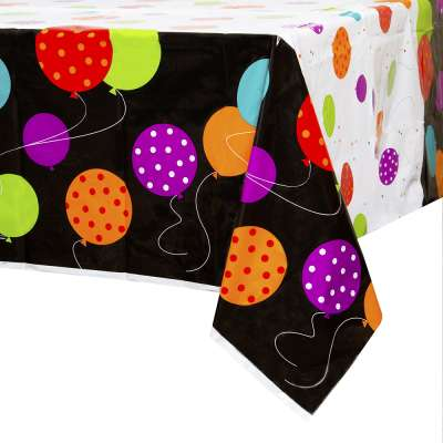 Classic Birthday Party Rectangular Plastic Table Cover 54