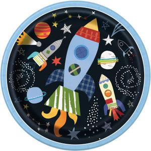 "Outer Space Round 9"" Dinner Plates 8ct"