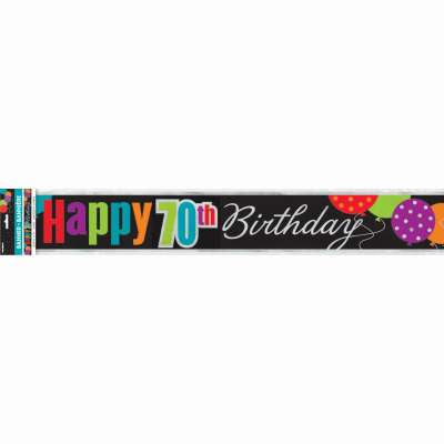 Classic 70th Birthday Foil Banner 12 ft