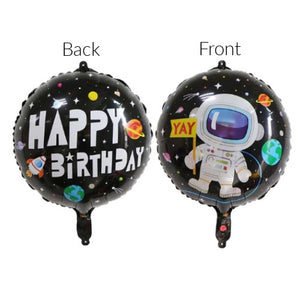 "Space Birthday Party 18"" Foil Balloon Packaged"
