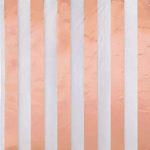 Rose Gold Foil Stripes Luncheon Napkins 16ct - Foil Stamped