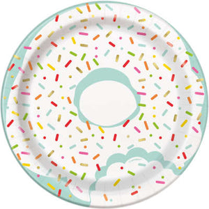 "Donut Birthday Party 7"" Dessert Plates 8ct"