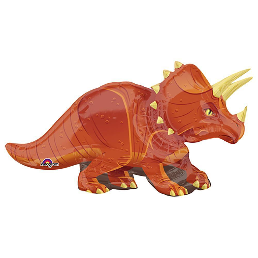 Triceratops Dinosaur Birthday Party Supershape Foil Balloon