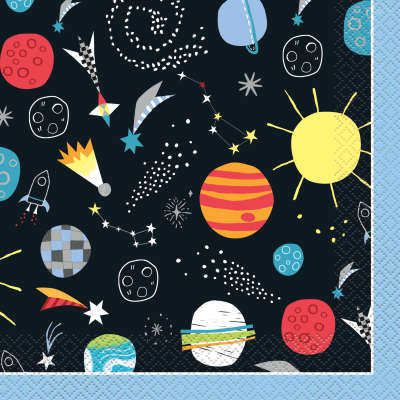Outer Space Luncheon Napkins 16ct