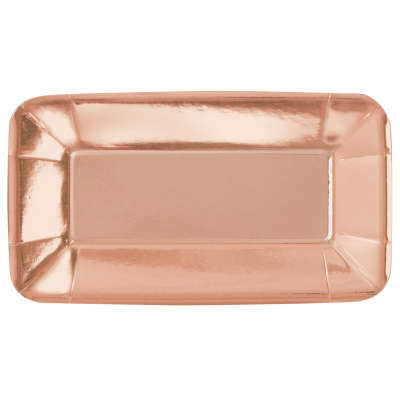 Rose Gold Foil Rectangular 9
