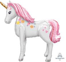Unicorn Birthday Party Airwalker Foil Balloon Packaged