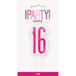 Sweet 16 Numeral Birthday Candles
