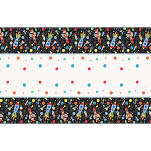 "Outer Space Birthday Party Rectangular Plastic Table Cover 54""x84"""