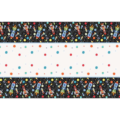 Outer Space Birthday Party Rectangular Plastic Table Cover 54