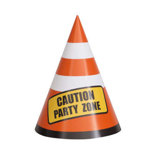 Construction Birthday Party Hats 8ct