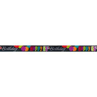 Classic 65th Birthday Foil Banner 12 ft