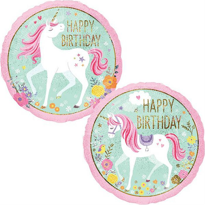Unicorn Birthday Party Foil Balloon 18