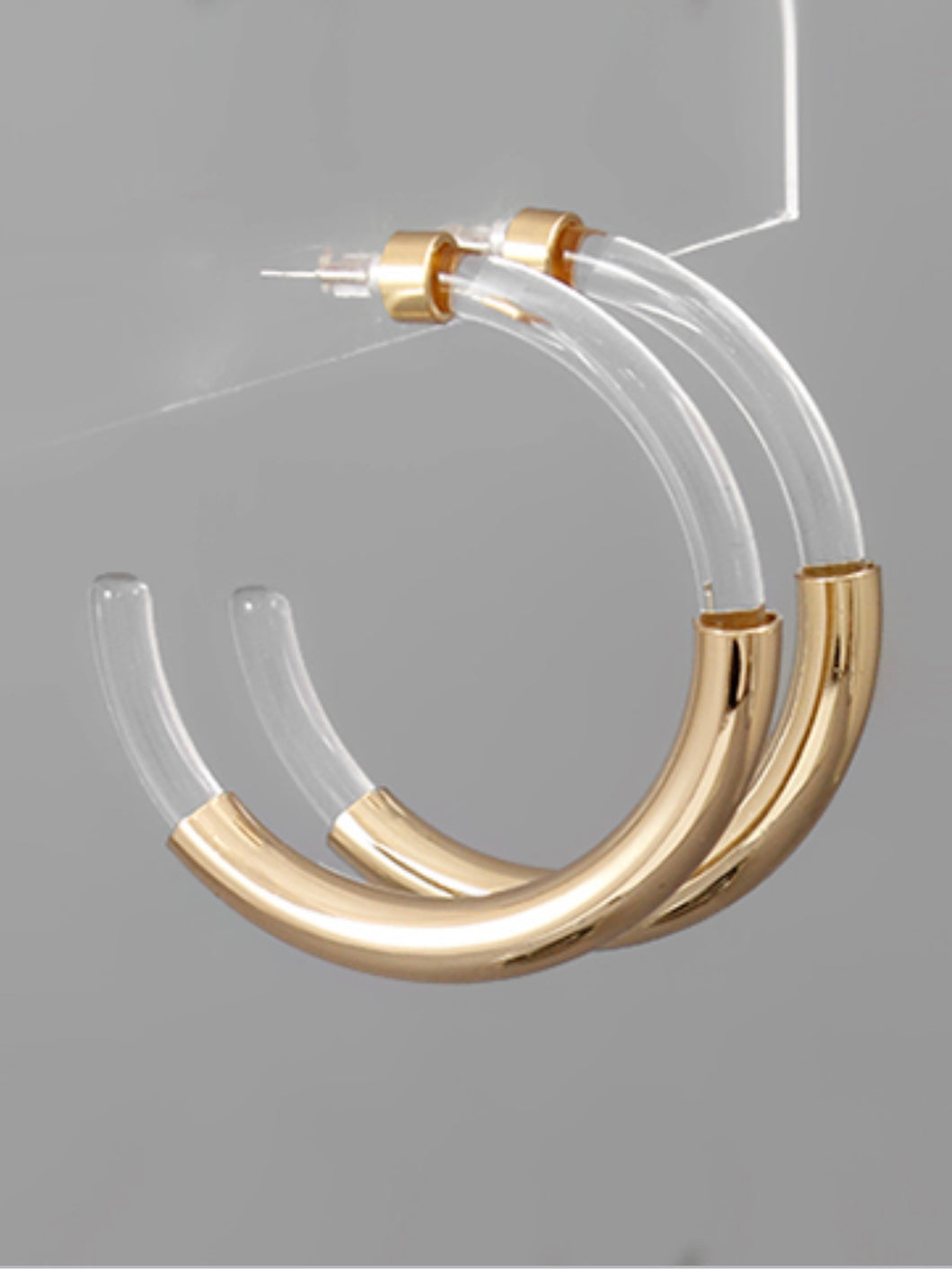 Clear Tortoise Tube Hoops