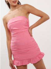 Load image into Gallery viewer, Pink Strapless Dress