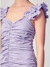 Load image into Gallery viewer, Lavender Ruched Dress
