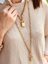 Load image into Gallery viewer, Gold Stella Padlock Necklace