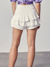 Load image into Gallery viewer, Off White Layered Ruffle Skirt