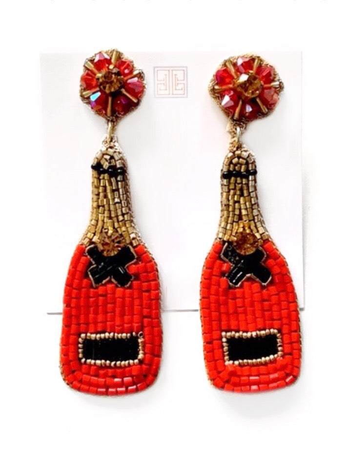Champagne Earrings - Red