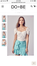 Load image into Gallery viewer, White Ruffle Pocket Trim Shorts