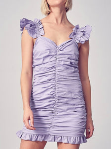 Lavender Ruched Dress