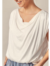 Load image into Gallery viewer, White Drape Neck Top