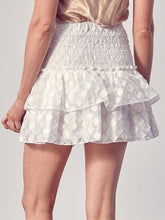 Load image into Gallery viewer, White Smocked Ruffle Skirt