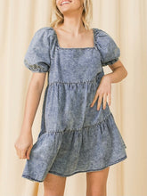 Load image into Gallery viewer, Chambray Acid Wash Dress