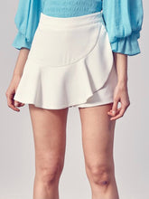 Load image into Gallery viewer, White Ruffle Skort