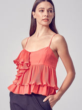 Load image into Gallery viewer, Flamingo Ruffle Pleat Top
