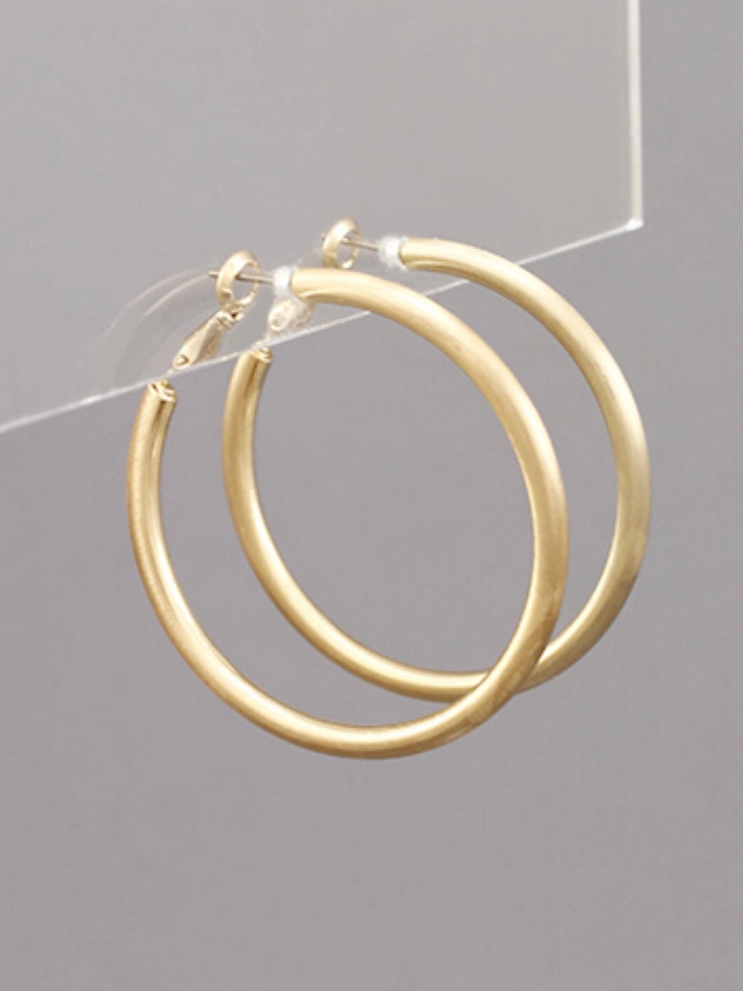 Satin Gold 45MM Hoops