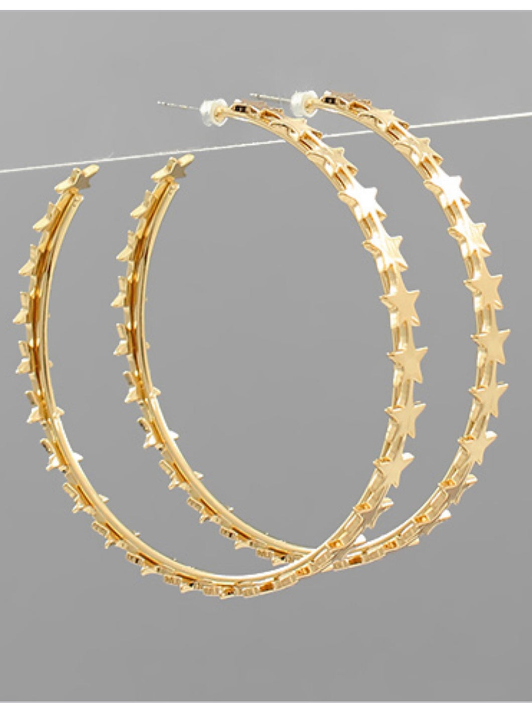 Gold Multi Star Hoops