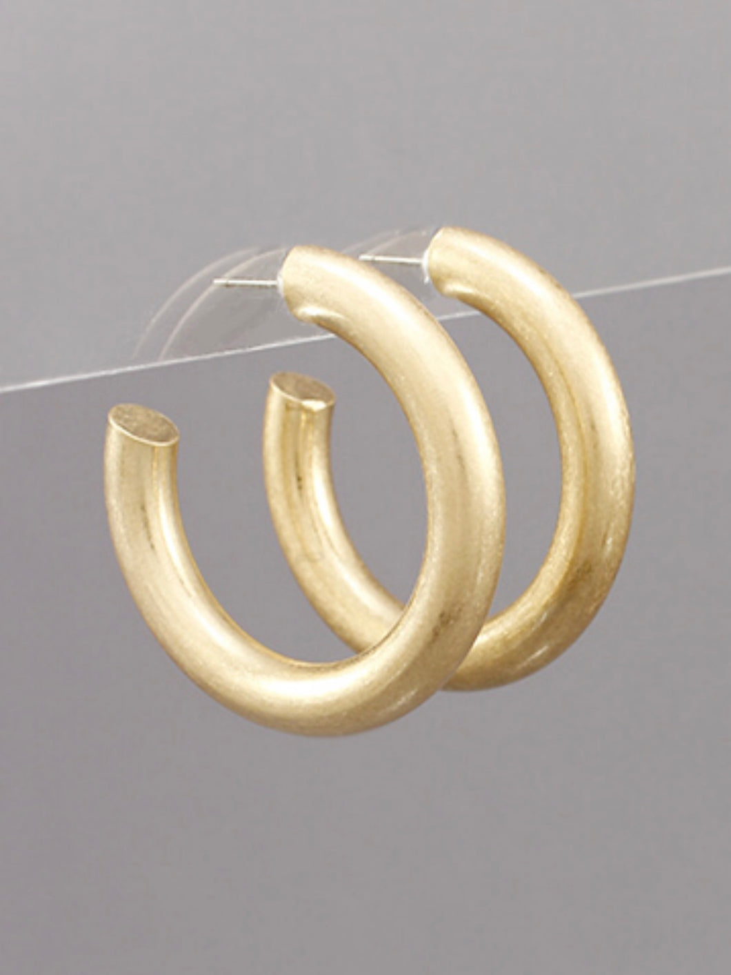 Matte Gold 40MM Open Hoops