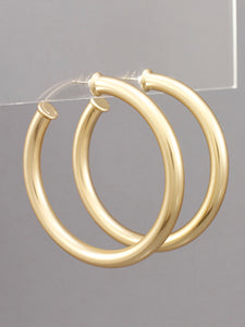 Matte Gold 57MM Tube Hoops