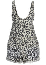 Load image into Gallery viewer, Leopard Denim Romper