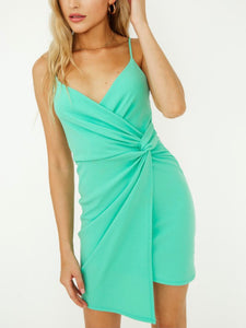 Mint Side Knot Dress