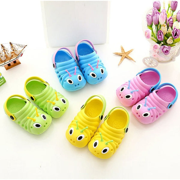 Baby Sandals Summer flat-sandas Slippers Outdoor Hole Shoes Cute Cartoon Waterproof Breathable Sandals Suit 0-5T