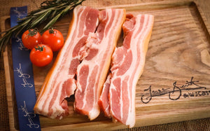 9 X Rashers Smoked Dry Cured Free-Range Wiltshire Streaky Bacon Rind On
