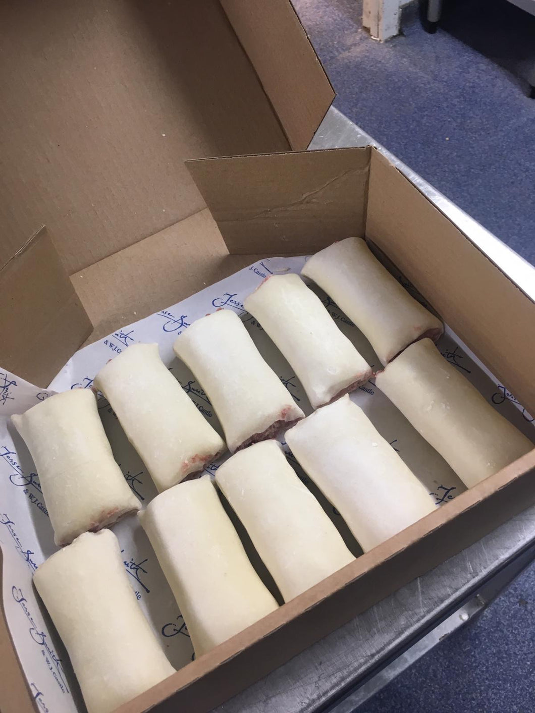 10 X Traditional Sausage Roll Box