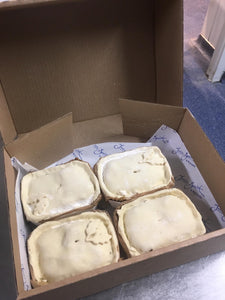Mixed box of 4 X small chicken pies