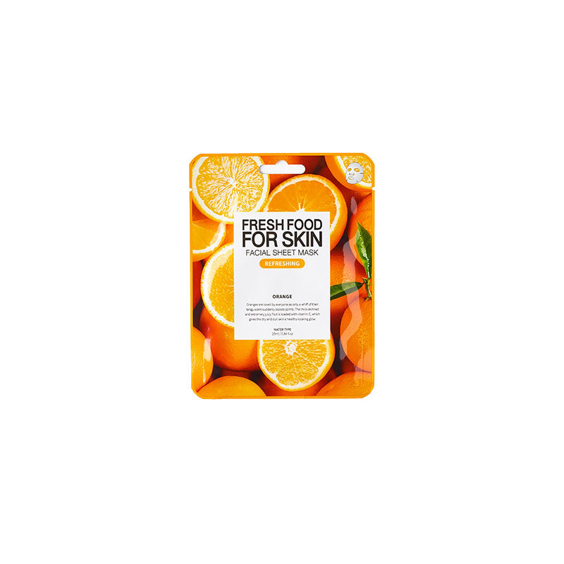 Fresh Food for Skin Facial Sheet Mask Orange - Dareena