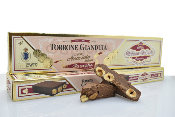 Torrone | Nocciolato al Gianduia | 200g - I.R.C. William Di Carlo Srl