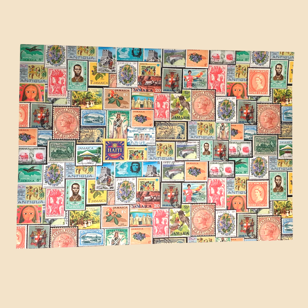 Caribbean Stamps Wrapping Paper
