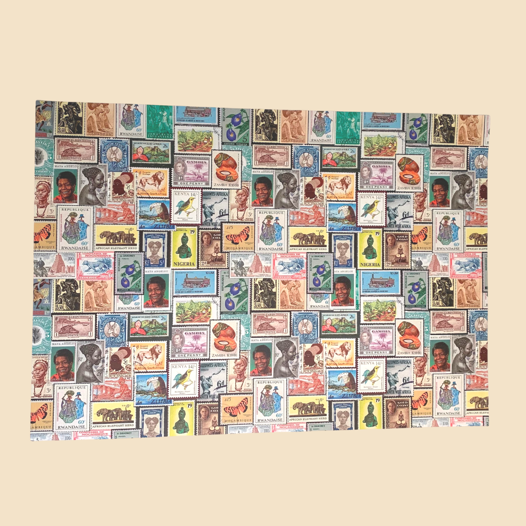 African Stamps Wrapping Paper