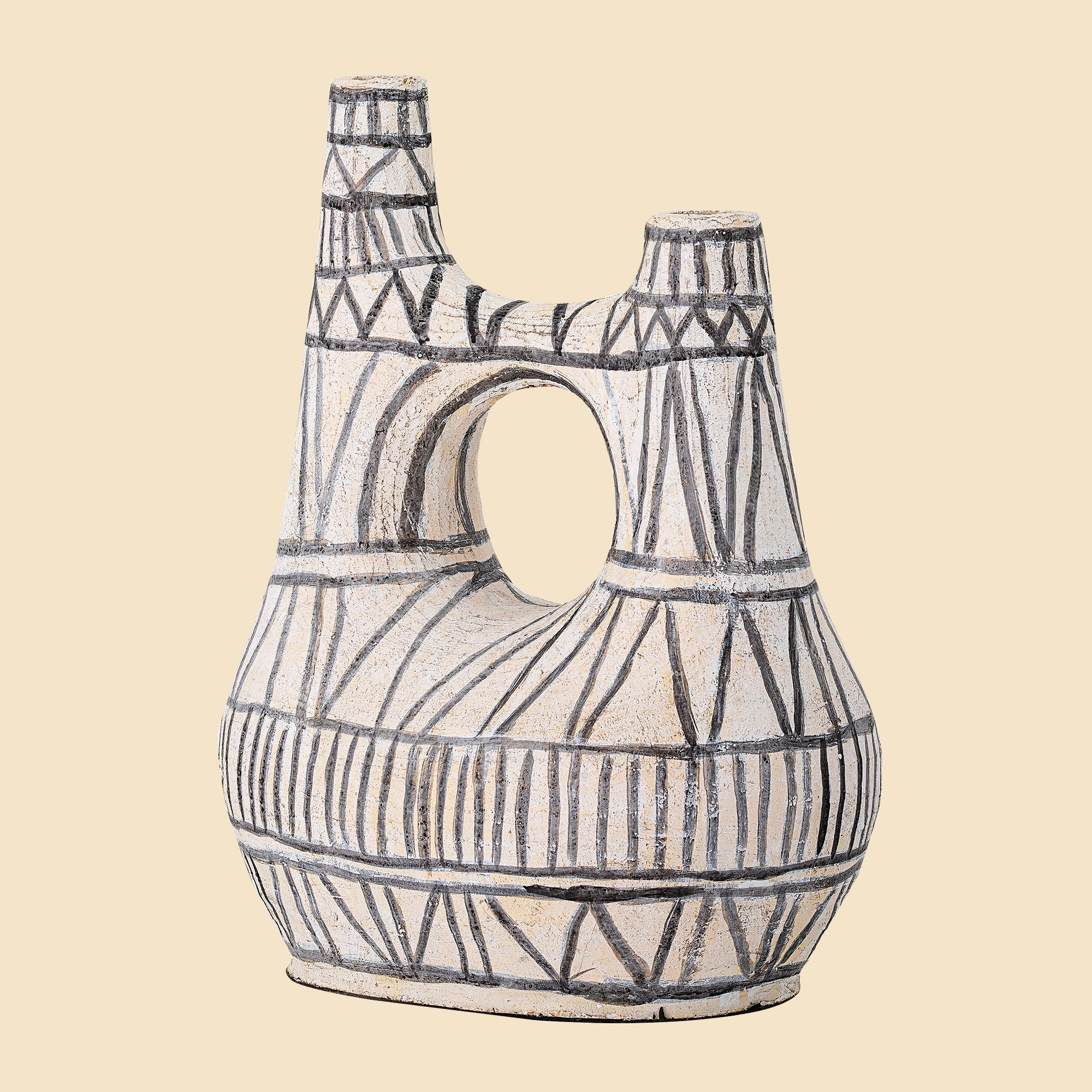 Black and White Terracotta Vase
