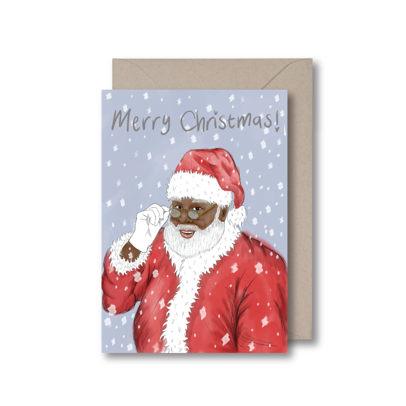 Black Santa Christmas card