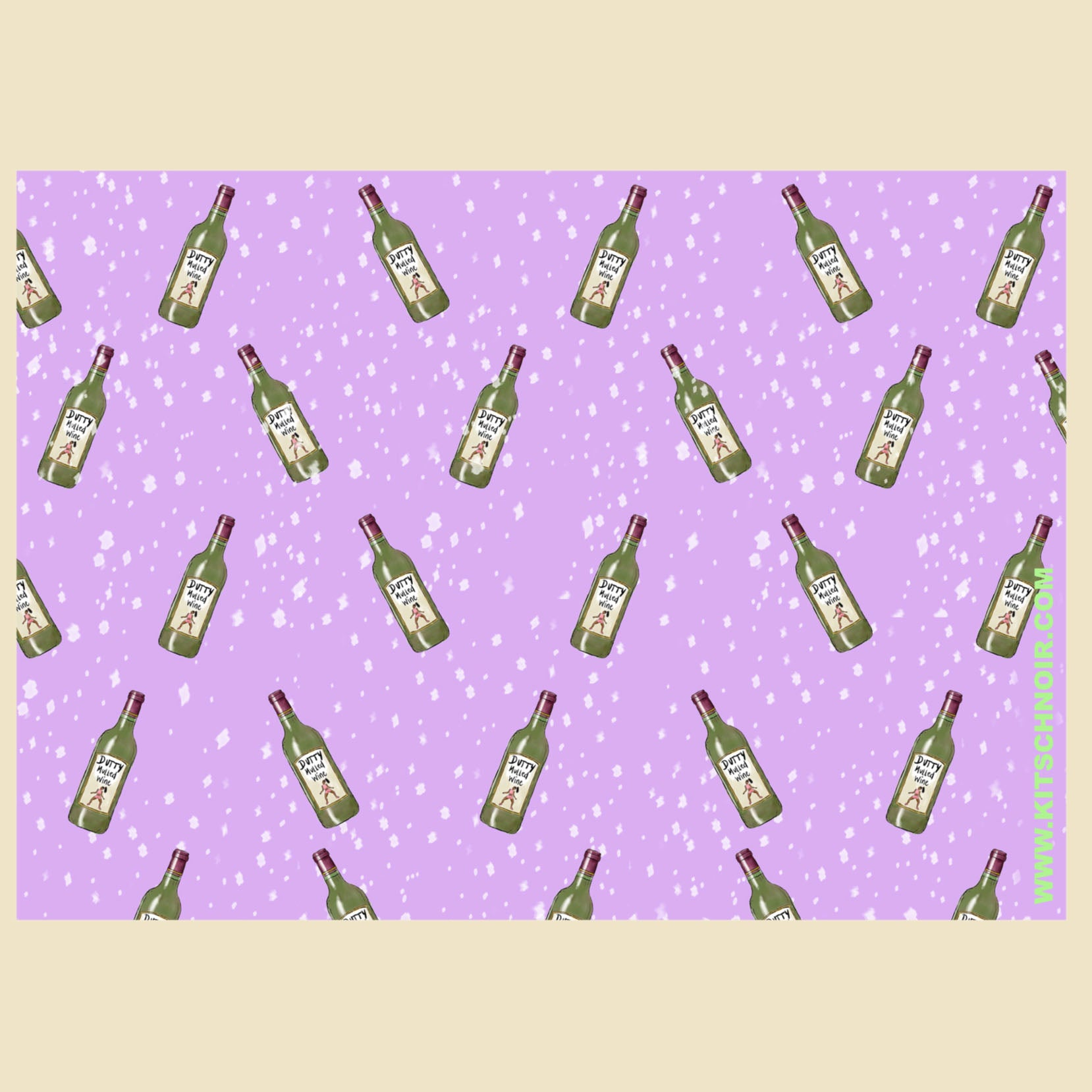 Dutty mulled wine wrapping paper